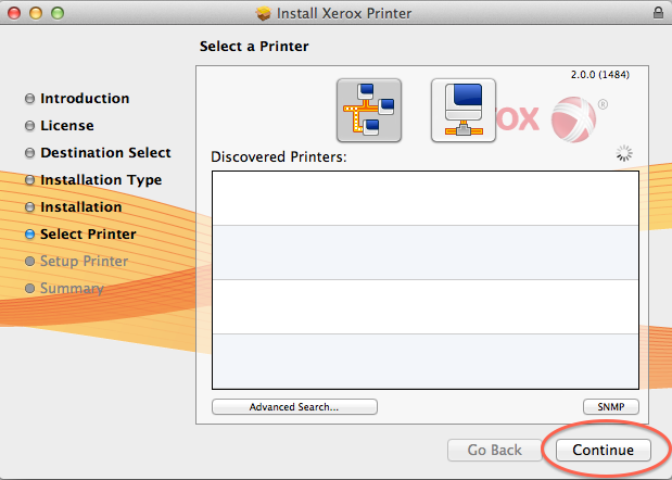 Version 8 - History - Xerox Setup Apple Macintosh OSX